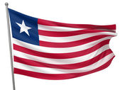Liberia National Flag — Stock Photo
