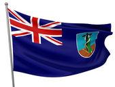 Montserrat National Flag — Stock Photo