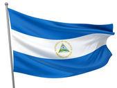 Nicaragua National Flag — Stock Photo