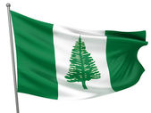 Norfolk Island National Flag — Stock Photo