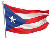 Puerto Rico National Flag — Stock Photo