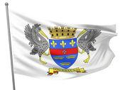Saint Barthelemy National Flag — Stock Photo