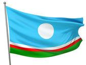 Sakha Republic National Flag — Stock Photo