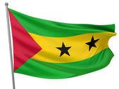 Sao Tome and Principe Flag — Stock Photo