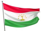 Tajikistan National Flag — Stock Photo