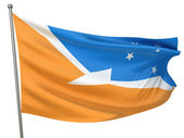 Tierra del Fuego Province Flag — Stock Photo