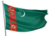 Turkmenistan National Flag — Stock Photo