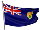 Turks and Caicos Islands Flag — Stock Photo