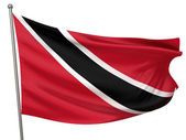 Trinidad and Tobago National Flag — Stock Photo