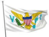 Virgin Islands (US) National Flag — Stock Photo