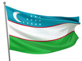 Uzbekistan National Flag — Stock Photo