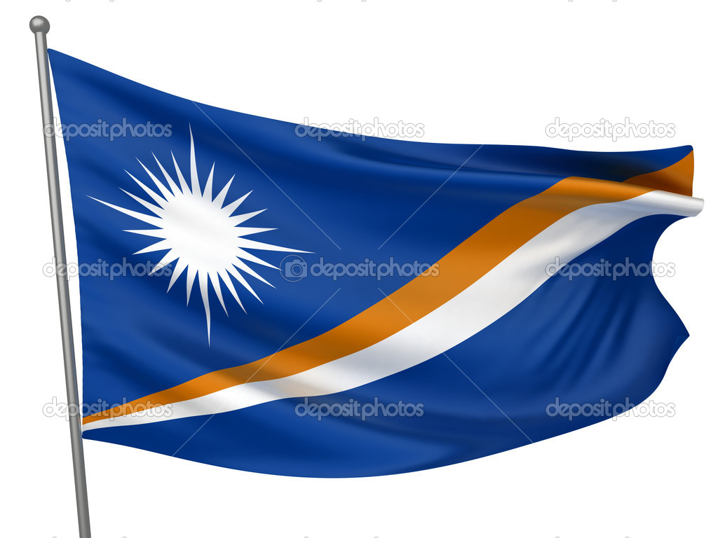 Marshall Islands Flag — Foto Stock #1735370