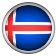 National Flag of Iceland — Stock Photo