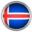 Flaga narodowa Islandii — Zdjęcie stockowe