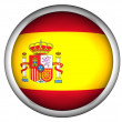 National Flag of Spain | Button Style | — Stock Photo