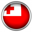 National Flag of Tonga | Button Style | — Stock Photo