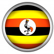 National Flag of Uganda — Stock Photo