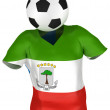 Soccer Team of Equatorial Guinea — Stock Photo