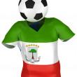 Soccer Team of Equatorial Guinea — Stock Photo