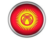 National Flag of Kyrgyzstan — Stock Photo