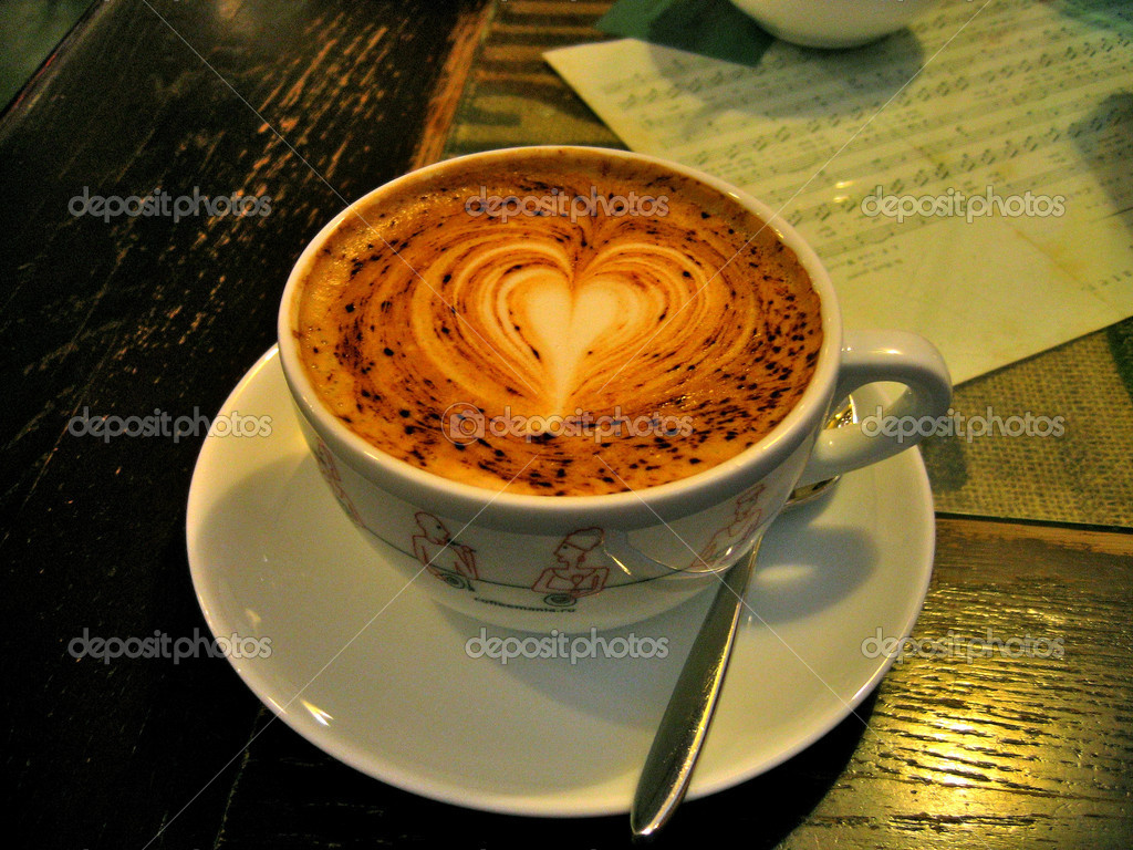 Morning cup of coffee before a difficult day  Stock Photo #1032009