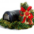 Stock Photo: Lens and Christmas toy