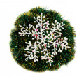 Stock Photo: Christmas snowflake.