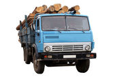A truck with a lumber — Stock Photo