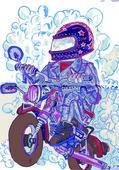 Motorcycle racer — Stock Vector