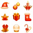Vector Christmas icons. - Stock Vector