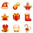 Vector Christmas icons. — Stock Vector