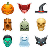 Vector personajes halloween. — Vector de stock