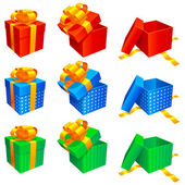 Vector gift boxes. — Vettoriale Stock
