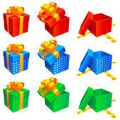 Vector gift boxes. — Stock Vector