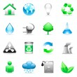 Stock Vector: Vector environmental icons.