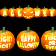 Royalty-Free Stock Vektorfiler: Vector halloween pumpkin concepts.