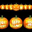 Royalty-Free Stock 矢量图片: Vector halloween pumpkin concepts.