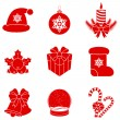 Vector Christmas silhouettes. — Stock Vector