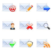 Vector e-mail icons. — Vettoriale Stock