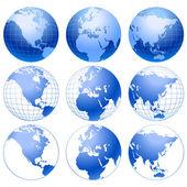Vector globe icons. — Stock Vector