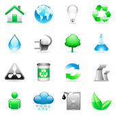 Vector environmental icons. — Vettoriale Stock