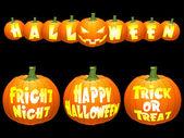 Vector halloween pumpkin concepts. — Stock Vector