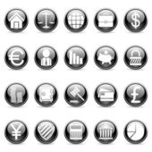 Vector business and finance buttons. — Vettoriale Stock