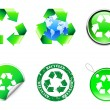 Vector recycle symbols. — Stock Vector