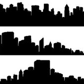 Vector city silhouettes. — Stock Vector