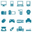 Vector computer and media icons. — Stockvectorbeeld