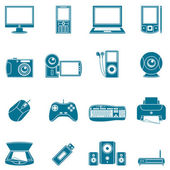 Vector computer and media icons. — Vettoriale Stock