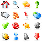 Vector web icons. — Stock Vector