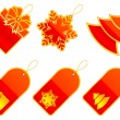 Vector Christmas labels. - Stock Vector