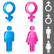 Stock Vector: Gender symbols.